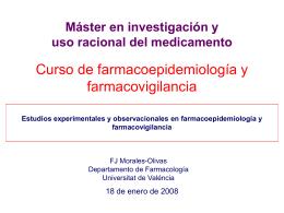 Diseño Estudios farmacoepidemiológicos
