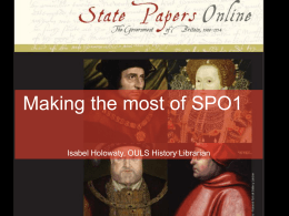 State Papers Online I