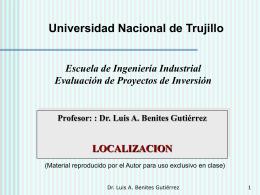 Localizacion - ingenier í a industrial