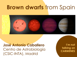 Brown dwarfs from Spain