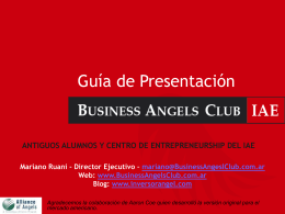 Guia de Presentación - Business Angels | IAE