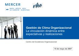 Gestión del Clima y Compromiso Organizacional