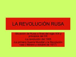La Revolución rusa [PPT 480 KB]