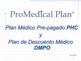 PLAN DE DESCUENTO MEDICO (DMPO)