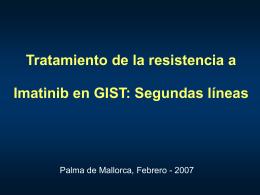 Tratamiento clínico de la resistencia en GIST