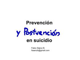 Postvención en suicidio
