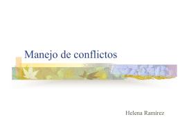 """Presentación """"Manejo de conflictos"""""""