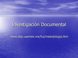 5_Investigación Documental_Definición y formas