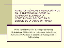 Presentacion de Merida - Laboratorio de Estudios Fónicos