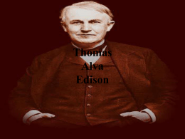 Thomas Alva Edison, un genio con malas notas