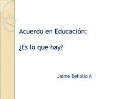 Acuerdo en educación: ¿Es lo que hay?