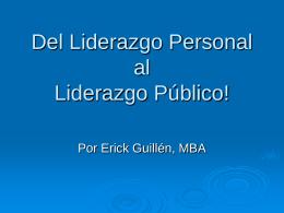 Liderazgo - Eguillen.com