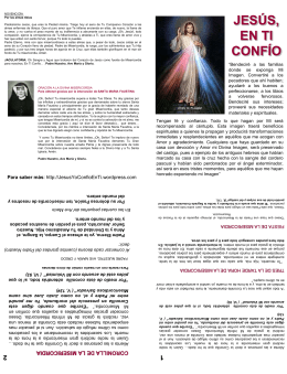 folleto novena - Jesús, Señor de Misericordia