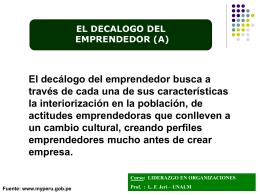 EL DECALOGO DEL EMPRENDEDOR