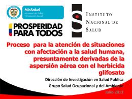 Instituto Nacional de Salud Socialización PMA_PECIG