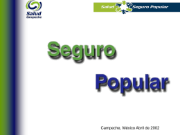 Seguro Popular de Salud - Secretaría de Salud :: México