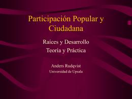 Participación Popular y Ciudadana