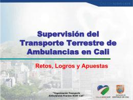 Presentación Supervisión del Transporte Terrestre de Ambulancias