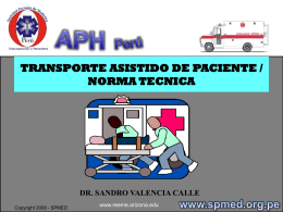 Transporte Asistido de Paciente
