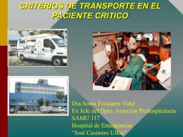 8.Criterios de transporte en el paciente crítico