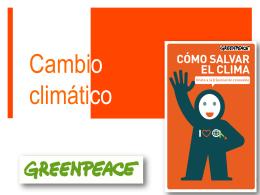 Cambio climático - Greenpeace España