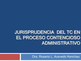 jurisprudencia del tc en el proceso contencioso administrativo