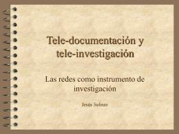 Tele-documentación y tele