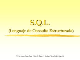 SQL - Instrucción SELECT