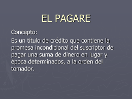 LEGISLACION 1er PARCIAL –EL PAGARE