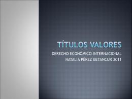 TÍTULOS VALORES - entornoempresarial