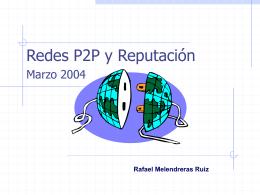 P2P y algoritmos para reputación