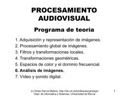 TEMA 6. Análisis de Imágenes - Departamento de Informática y