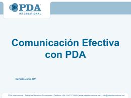 Comunicación Efectiva con PDA