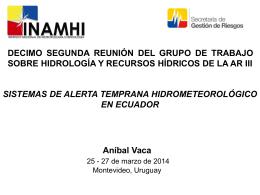 Sistemas de alerta temprana hidrometeorológico en ecuador
