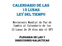 CALENDARIO DE LAS 13 LUNAS
