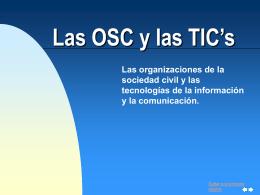Las organizaciones de la sociedad civil y las TIC
