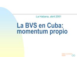 La BVS en Cuba