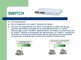 Dispositivos de redes (continuación)