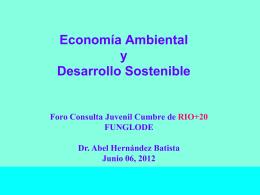 Economia Ambiental y Desarrollo Sostenible