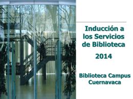 Guía para conocer los servicios de la biblioteca