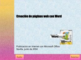 Creación de páginas web con Word