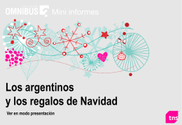 Diapositiva 1 - Camara Argentina de Anunciantes