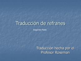 Traducción de refranes