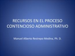 recursos en el proceso contencioso administrativo
