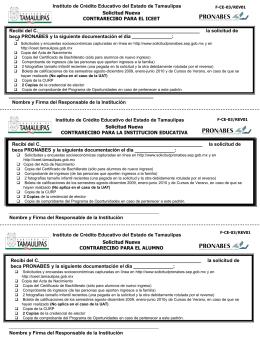 Contrarecibos pronabe 2010-2011 - facultad de enfermeria nuevo