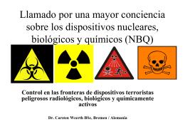 Control en las fronteras de dispositivos terroristas peligrosos