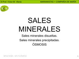 sales minerales disueltas - PROFESOR JANO es Víctor M. Vitoria