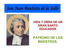 Presentación  San Juan Bautista De La Salle