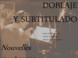 Trabajo_Doblaje y Subtitulado