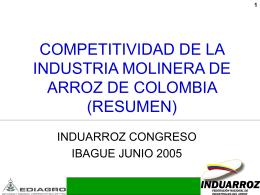 COMPETITIVIDAD DE LA INDUSSTRIA MOLINERA DE ARROZ DE